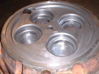 Repaired cylinder head - cracks and gas burns