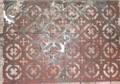 Welded ornate cast iron panel after restoration